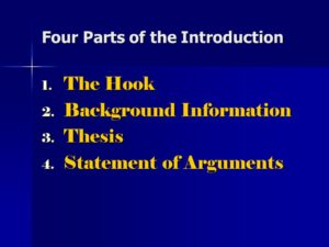 What Are The Four Parts Of An Introduction | The Dissertation Papers UK